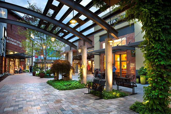 Outdoor village at Alderwood mall