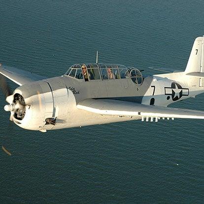 Historic Flight Foundation airplen IdaRed in the sky