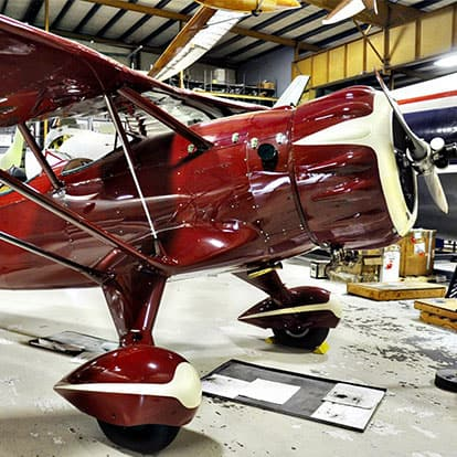 Airplane being worked on at Museum of Flight Restoration Center