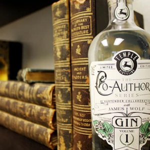 Bottle of Temple Distilling gin
