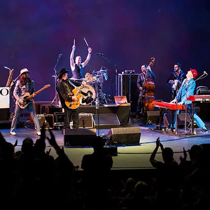 The Mavericks band playing at the Edmonds Center for the Arts