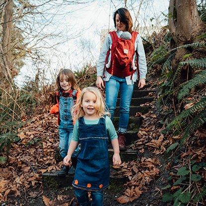 Family Hiking at Japanese Gulch Seattle NorthCountry Lynnwood WA
