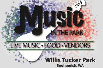 Flyer for Music in the Park at Willis Tucker Park