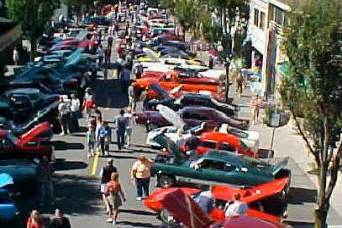 Aerial view of the Edmonds Classic Car Show